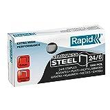 RAPID 24858100 - Caja 1000 grapas 24/6 mm Super Strong acero inoxidable