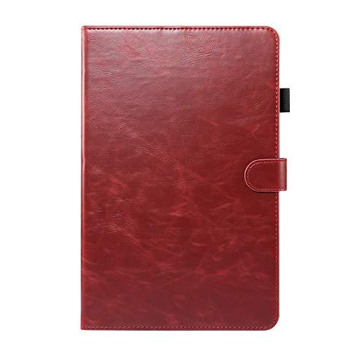 HHF Pad Accesorios para Samsung Galaxy Tab 10.4 S6 Lite SM-P610 P615, PU Cuero de Lujo del Caso de la Cubierta Protectora para Samsung Tab Lite S6 Lite (Color : Red, Talla : P610)