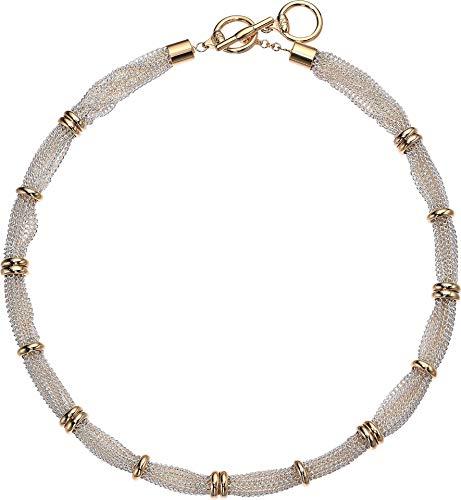 Lauren Ralph Lauren 17' Fine Chain Collar Necklace Two-Tone One Size
