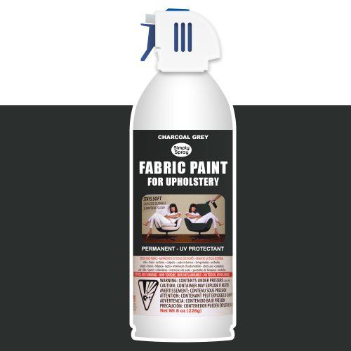 Simply Spray Upholstery Fabric Spray Paint 8 Oz. Can Charcoal Grey