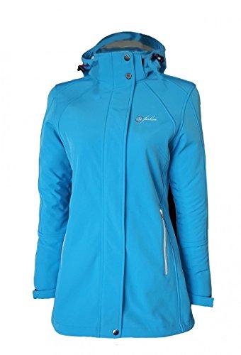 Dry Fashion Damen Softshell Mantel Sylt tailliert Regenmantel Regenjacke, Größe:44, Farbe:himmelblau