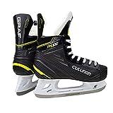 ZIXUAL Principiante Zapatos de Hockey sobre Hielo para niños niños para jóvenes Hockey para Adultos Hombres y Mujeres Skate de Hielo Zapatos de Patinaje de Entrenamiento za black-37EU