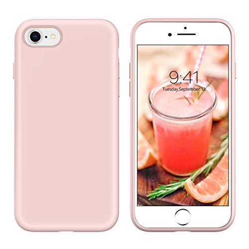 iPhone SE 2020 Hülle, iPhone 8 Hülle, Handyhülle iPhone 7 Silikon Case, BENTOBEN iPhone SE 2020 Handyhülle Slim aus weiche Flüssigsilikon Gummi mit Microfaser Tuch Futter iPhone SE 2 Silikon Case Rosa