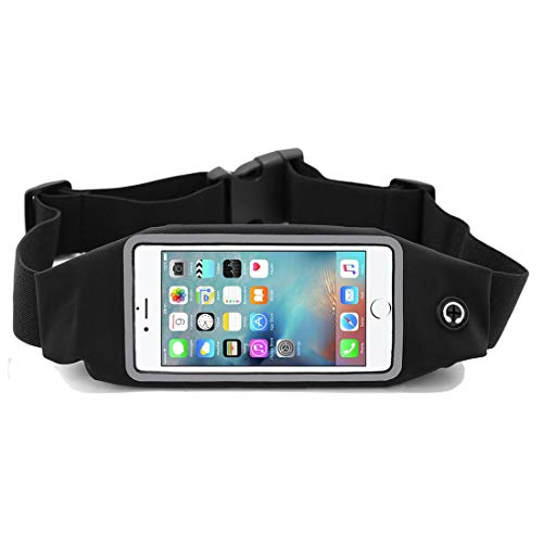 i2 Gear Running Belt Waist Pack - Cell Phone Holder with Zipper Pouch for iPhone 12, 11 Pro Max, Mini, LG G6, G8 ThinQ, V30, Samsung Galaxy S10 Plus, S9, S8, Huawei Mate 30 Pro, Moto G7 Power, Zoom