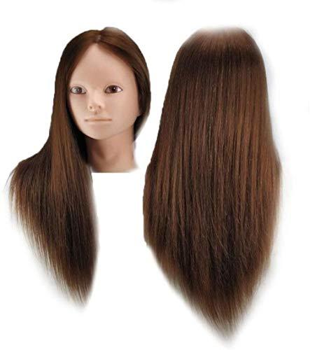 Mannequins de couture reglable Perruque, Cosmétologie tête Perruque de Cheveux Mannequin Styling Salon de Coiffure modèle de Formation Manikin Porte vêtement Mannequin (Color : 6#)