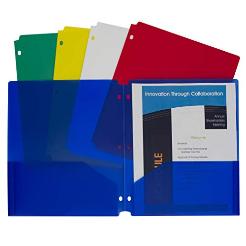 Top poly folders with pockets and holes for 2021
