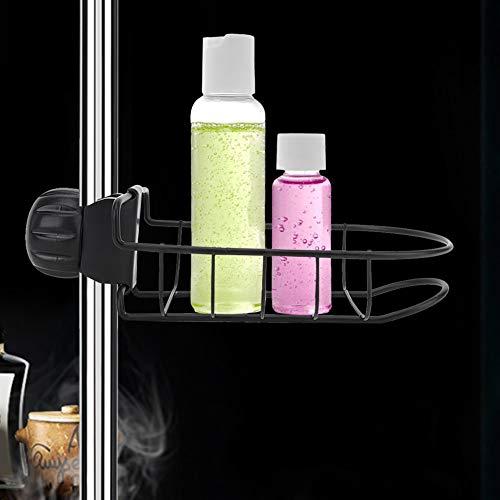 Changor Tack de jabón Simple, Esponja de Grifo de Cocina Negro 17.5 x 11 x 4 cm Capacidad de Carga de Carga Superficie de Hierro con Hierro