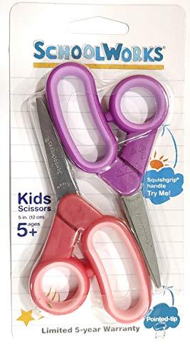 SchoolWorks クラフトハサミ 2個パック ピンクとパープル