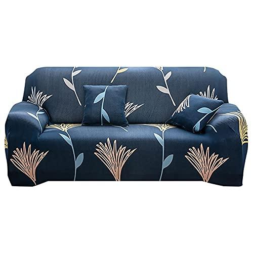 WXQY Funda de sofá elástica para Sala de Estar, Funda de sillón con Estampado geométrico, Juego de Funda de sofá Todo Incluido a Prueba de Polvo A14 de 3 plazas