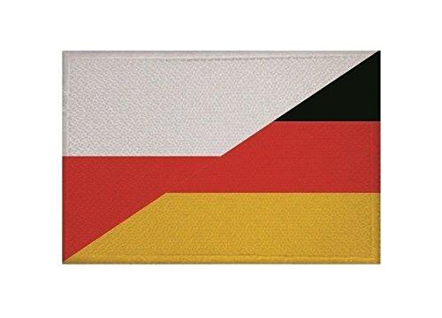 U24 Aufnäher Polen-Deutschland Fahne Flagge Aufbügler Patch 9 x 6 cm