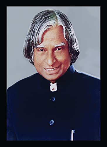 BIRD'S MIND Synthetic Wood Wall Hanging Apj Abdul Kalam Photo Frame Posters for Office School College Home Living Bedroom Wall Frames L x H 9.5 Inches x 13 Inches