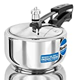 Hawkins Stainless Steel Induction Compatible Pressure Cooker, 2 Litre, Silver (HSS20)