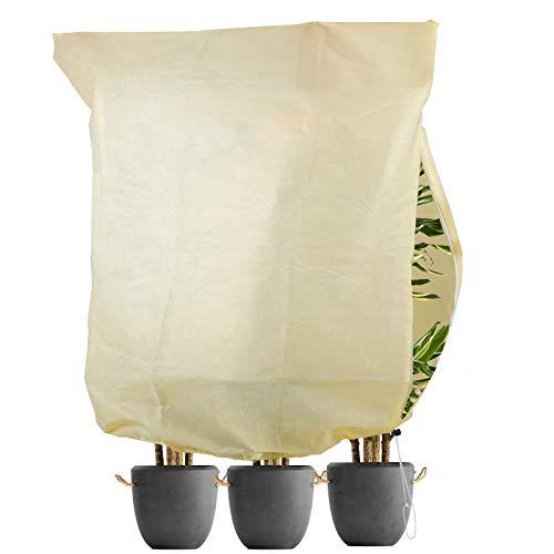 L LONGANCHANG Cappuccio Protezione Piante. Sacco di Protezione Invernale per Piante (180x120CM). Copertura per Svernamento in Tessuto Non Tessuto Riutilizzabile. Antipioggia e Antigelo. Medio