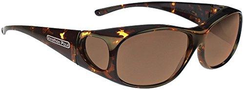 Jonathan Paul Fitovers Element Medium Polarized Over Sunglasses ; Tortoise & Polarvue Amber