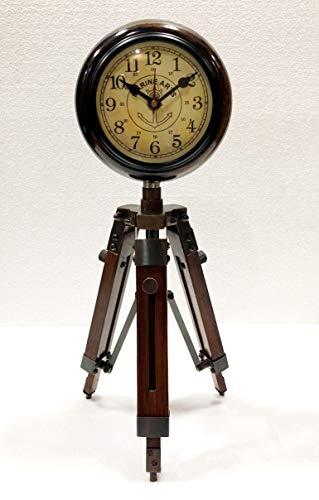 Vintage Mesa antigua de madera ajustable reloj de pie estilo