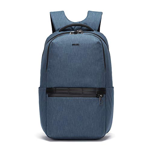 Pacsafe Men's Metrosafe X Anti Theft 25L Backpack-With Padded 15' Laptop Sleeve, Dark Denim
