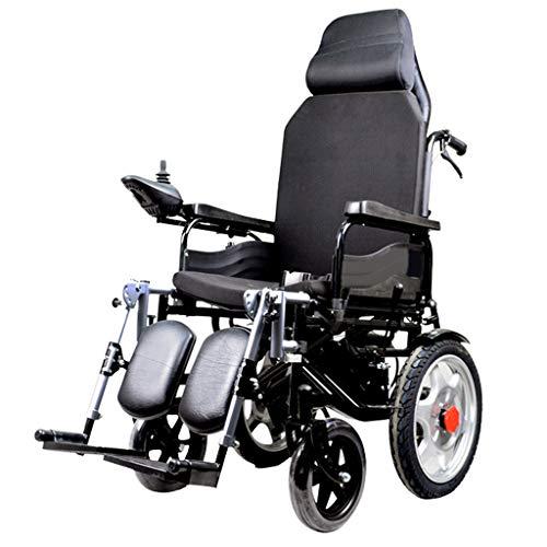 Silla de ruedas electrica Plegable reclinable confiable Manual eléctrico de Doble Uso Silla de Ruedas de Doble Motor Controlador Inteligente