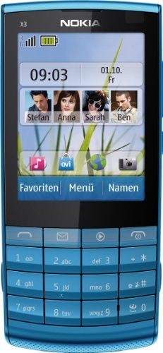 Nokia X3-02 Telefono cellulare Touch and Type, 3G, WCDMA (UMTS)/GSM, touch screen, colore: Metallo scuro [Importato da Germania]