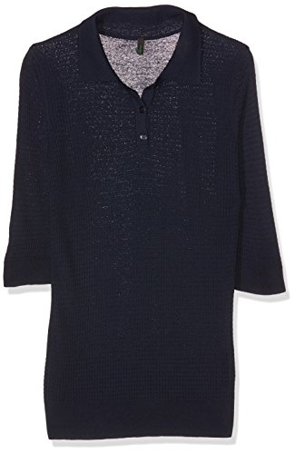 Benetton Damen 101WD3016 Poloshirt, Blau (Navy), XS(UK)
