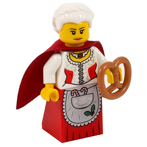 One More Brick Mrs Santa Minifigure - Festive Mrs Christmas | Todas las partes Lego
