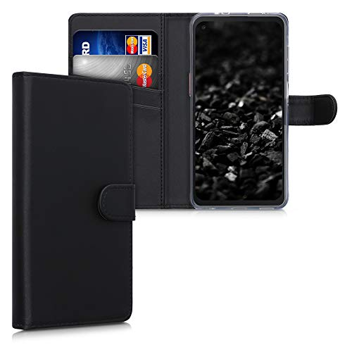 kwmobile Wallet Hülle kompatibel mit Samsung Galaxy Xcover Pro - Hülle Kunstleder mit Kartenfächern Stand in Schwarz