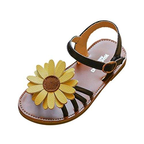 OHQ Sandalias Romanos De Niñas Verano Princesa Zapatos Sandalias Playa Ligeras Deporte Luminous Zapatillas Perla Sandalias Flores Zapatos Roma CóModo