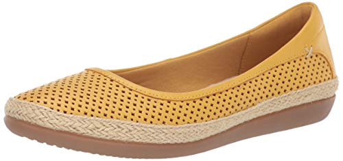 Price comparison product image CLARKS Women's Danelly Adira Ballet Flat Yellow Leather 055 M US