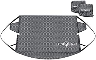 Frostguard - Premium Winter Windshield Snow Cover with Security Panel and Wiper Cover, Protects from Snow, Ice and Frost (Standard, Baltic Slate)