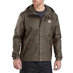 powerful Dry Harbor Carhartt Men's Jacket, Large Asphalt