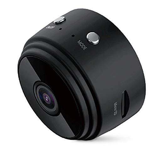 0℃ Outdoor Minicámara Espía Oculta 1080p Full HD 2 en 1 WiFi Y Tarjeta SD, Microcámara IP Inalámbrica, Gran Angular de 150 °, Detección de Movimiento y Mayor Vida útil, Fácil de Usar,Negro