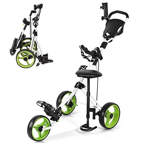 Gymax Golf Push cart, best golf push cart, golf push cart, golf push cart reviews, best golf push carts
