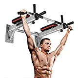 ONETWOFIT Wall Mounted Pull Up Bar Wall Chin Up Bar for Strength Training Exercise, Heavy Duty Workout Bar Perfect for Home Gym Indoor & Outdoor, Maximum Weight 330lbs