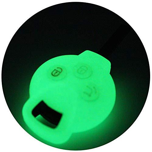 Schlüssel Hülle SC für 3 Tasten Auto Schlüssel Silikon Cover von Finest-Folia (Nachtleuchtend)