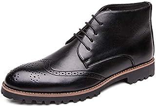 أحذية أساسية - أحذية رجالية جديدة عالية الجودة أحذية جلدية عالية الجودة للرجال العمل جزمة الكاحل مصنوعة يدويًا برباط أكسفو...