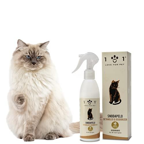 Desenredante y Desodorante para Gatos, 250ml - Acondicionador Natural Spray, Afloja Nudos, Suaviza el Pelo y Perfuma - No Requiere Aclarado y Agua - Apto para Todo Tipo de Pelo, Línea 101