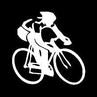 車のステッカー 13.5*13.5 センチメートル自転車スポーツ選手自己粘着防水壁のステッカー車の冷蔵庫キッチン装飾 (3 個)