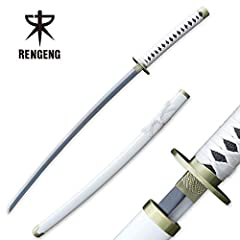 ❤RENGENG Wado Ichimonji, Roronoa Zoro Sword One-piece Set Sword, White [Net Weight] 2.2 lb; [Overall Length] 40.8 / 103.5 cm [Handle Length] 11.4 in / 29 cm; [Blade Length] 26.6 in / 67.5 cm [Superb Craftsmanship] Sword handle and scabbard are made o...