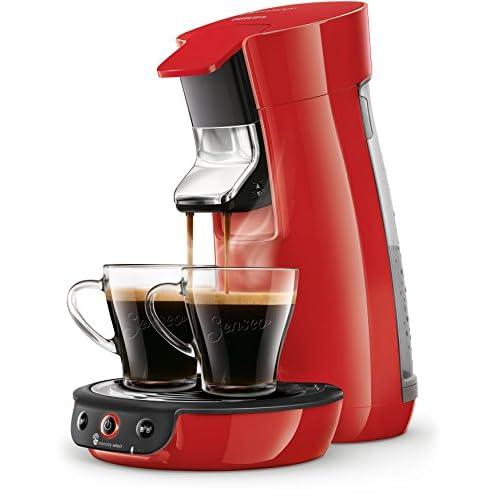 Philips Senseo Viva Cafe HD6563/80 Macchina per caffè con cialde (Crema plus, regolazione dell'intensità del caffè), colore: Rosso Macchina caffè a cialde Colore: rosso