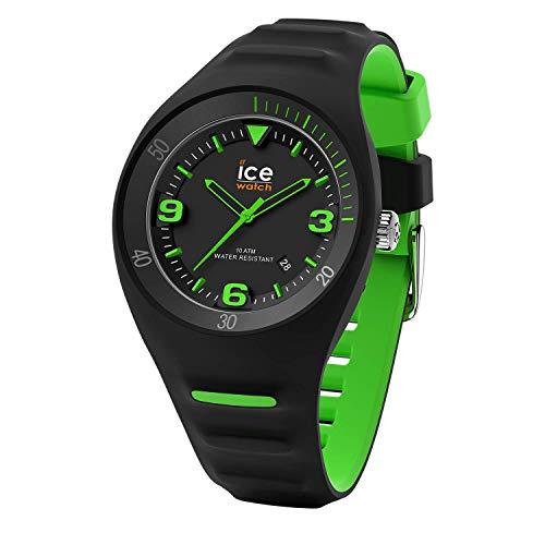 ICE-WATCH - P. Leclercq Black green - Schwarze Herrenuhr mit Silikonarmband - 017599 (Medium)