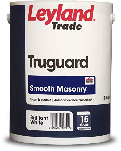 Leyland Trade 264725 Smooth Masonry, Brilliant White, 5 Litre