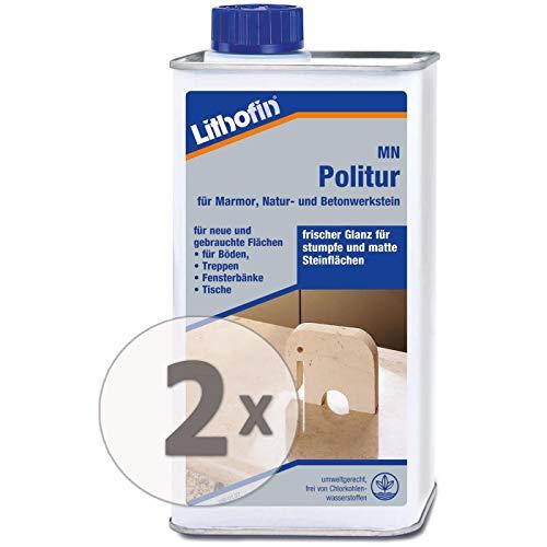 Lithofin MN Politur flüssig 2 l - Für polierte und geschliffene Natur- und Betonwerksteine