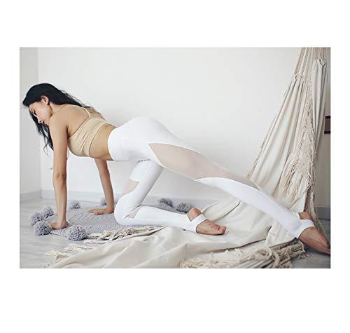 Youpin Imlario Power Flex - Mallas de yoga para mujer, con control de barriga, malla para entrenamiento, fitness, pantalones de capris para adelgazar (color: blanco, talla: XL)