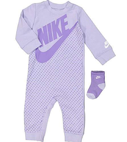 Nike Baby Overall und Socken, Unisex, Violett, 6 Monate