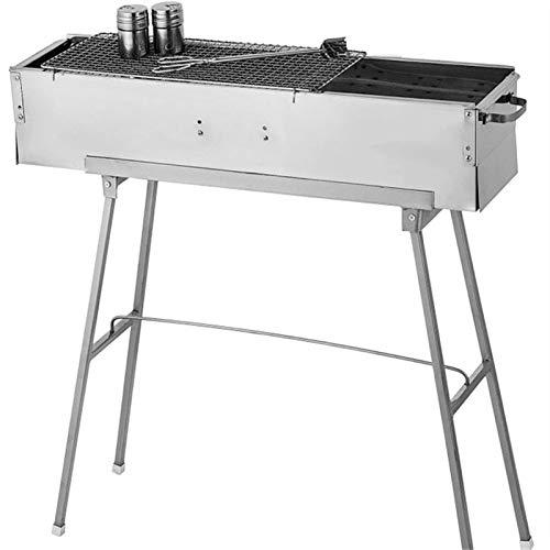 XXXXW Barbecue Portatile Griglia a carbonizzatore in Acciaio Inox da 32 Pollici Portatile in Acciaio Inox  Barbecue Griglia da Campeggio Pieghevole per Il Cortile Esterno Patio Barbecue da Tavolo