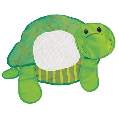Bieco 04004529 Badewannennetz Schildkröte, Spielzeugaufbewahrung für die Badewanne, Aufbewahrung für Badespielzeug, Netz für Badewannenspielzeug mit Saugnapf zum Befestigen, Grün