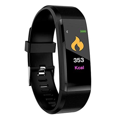 Fitness Tracker Reloj con Monitor de frecuencia cardíaca/presión Arterial, Impermeable, Pulsera Inteligente para Monitor de sueño, Contador de calorías, podómetro