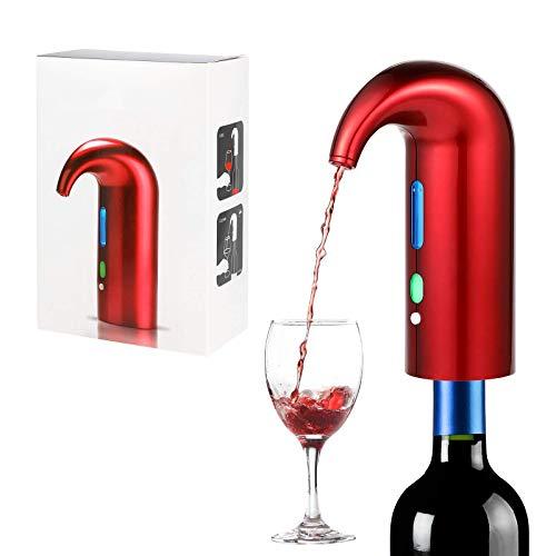 panthem Decantador eléctrico de vino, portátil, recargable por USB, dispensador de vino...