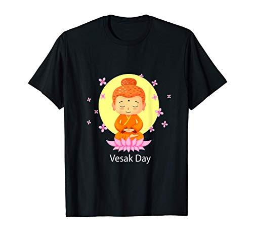 Regalo paz del budismo del loto del buda del día de Vesak Camiseta