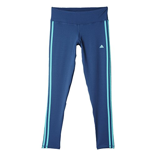 adidas Damen Leggings Basic 3S LG TIG Lange Tight, Mineral Blue S16/Shock Green S16, M
