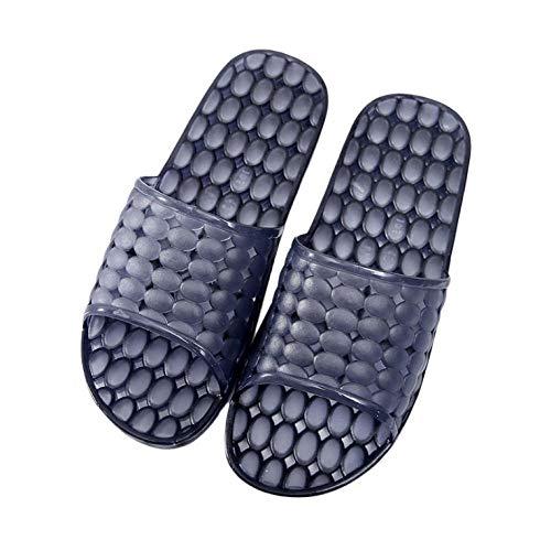KIKIGO Chanclas ligeras, zapatillas de plástico para el baño, sandalias huecas desodorantes y pantuflas negras_42